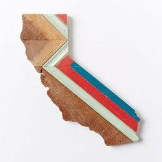 Love you California. Hemlock & Heather California Wood Wall Hanging | West Elm