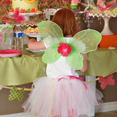 CLEARANCE Fairy Wings - Green with Yellow Flower $3.99 (only 3 left!)
