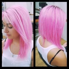 Candy Floss Pink using Matrix colour lacquers by Kylie King Kylie King, Matrix Color, Candy Floss, Colour, Long Hair Styles, Pink, Beauty, Color, Long Hairstyle