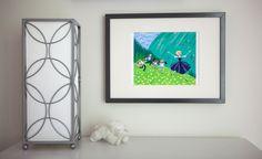 Project Nursery - Purple, Aqua, and White Girl Nursery Wall Art