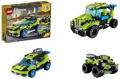 Lego Creator 3 In 1 Rocket Rally Car 241 Pieces Building Kit Kids Toy Gift New Lego Creator, The Creator, Rally Car, Building Toys, Kit, Ebay