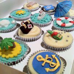 Cruise themed cupcakes by Candys Cupcakes