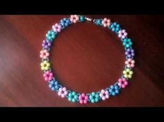 "Колье из бисера и бусин ""Летнее настроение"". Мастер-класс. Necklace from beads. Master class - YouTube"