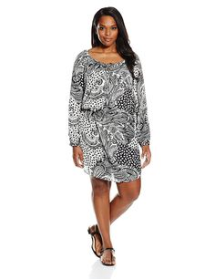 Single Dress Women's Plus-Size Boho Peasant Dress ** Unbelievable  item right here! : Plus size fashion
