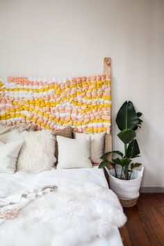 How to Make a Woven Headboard This DIY headboard project only looks like it requires an advanced degree in weaving. (Surprise: It's actually easy enough for beginners to make.) The post How to Make a Woven Headboard appeared first on Weaving ideas. Home Bedroom, Bedroom Decor, Bedroom Ideas, Bedrooms, Decor Room, Entryway Decor, Wall Decor, Diy Interior, Interior Design