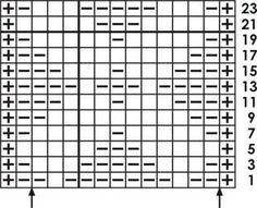 X - Knitting Chart