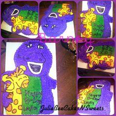 Barney cake I made last night for princess Layla 01/03/14