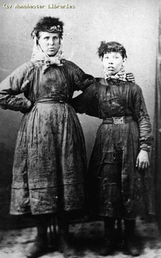 Female coal miners of Appalachia, 1860
