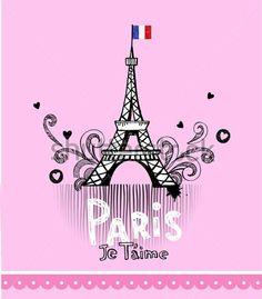 Torre Eiffel DE París, Tarjeta Postal En Estilo DE Glamour Doodle imágenes prediseñadas (clip arts) - ClipartLogo.com