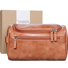 38bb462d4af7  Gift Box  VASKER Travel Hanging Toiletry Bag for Men Waterproof (Brown)  Review