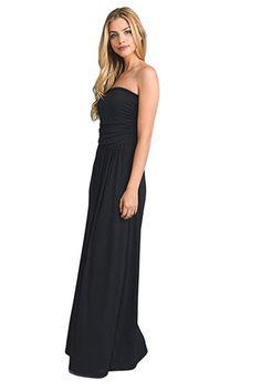 Vanilla Bay Women's Signature Strapless Full Length Maxi Dress with Pockets at Amazon Women's Clothing store: Best Black, Black Maxi, Prom Dresses, Formal Dresses, Clubwear, Vanilla, Pockets, Amazon, Elegant