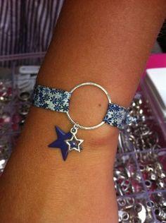 bracelet liberty Rope Jewelry, Leather Jewelry, Jewelry Crafts, Beaded Jewelry, Jewelery, Jewelry Bracelets, Handmade Jewelry, Bracelets Liberty, Fabric Bracelets