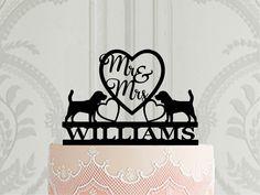 Dog Cake Topper Wedding, Cat Cake Topper, Wedding Cakes, Personalized Wedding Cake Toppers, Wedding Cake Decorations, Custom Cake Toppers, Custom Cakes, Cat Wedding, Pug Cake