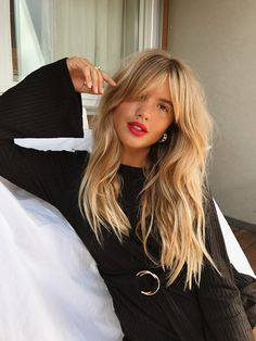 The perfect messy hair style #fringe #hairstyles