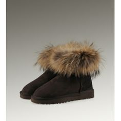 Fashion Uk Ugg Fox Fur Mini 5854 Boots For Female Clearance Paris Fashion Fashion Boots
