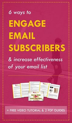 What if you could double the effectiveness of your email marketing *without* growing your list? What about double your revenue? You can do that by doubling the engagement level of your email subscribers. To that, you need to nurture them. How? Read this post to get 6 insanely effective strategies (& download the free goodies - I seriously can't believe they're free).