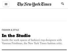 The New York Times: In the Studio