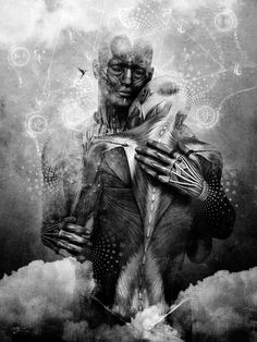 For those who love with Heart and Soul there is no such thing as separation.Rumi.  Art..Cameron Grey