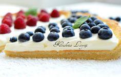 tarta # borówki # maliny # krem mascarpone # tarta z malinami i borówkami