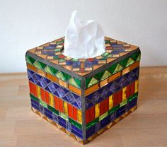 Image result for how to cover tissue box with tile