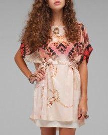 wooden kaleidoscope dress.