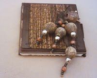 Journals by Jean: Gum Nuts and Silver Beads with sticks and wood bea...