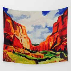 The Jack (or Jill) of all trades. Wall tapestries truly can do it all. Lightweight to hang on the wall, durable to use as a tablecloth and vivid colors make it an eye-catching picnic blanket. Available in three sizes. - Every product is made just for you - 100% lightweight polyester with hand-sewn finishes - Suitable for indoor and outdoor use - Machine wash cold on gentle cycle, tumble dry low - Iron, only on reverse white side - Hang with thum... Sedona Arizona, Art For Sale, Wall Tapestry, Vivid Colors, Picnic Blanket, Just For You, Rugs, Store, Tapestries