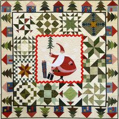 Santa's Village quilt kit and pattern at Cotton Patch Fabrics.  Design by ThimbleCreek Quilts.