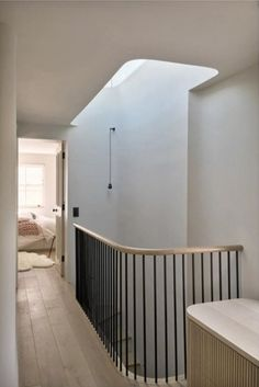 Quality Purpose Made Joinery in London & the South East Metal Handrails For Stairs, Modern Staircase Railing, Timber Handrail, Oak Stairs, Interior Staircase, Stair Handrail, Staircase Design, Bespoke Staircases, Acoustic Wall Panels
