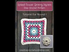 Framed Flower Circle GrannySquare | Creative Crochet Workshop
