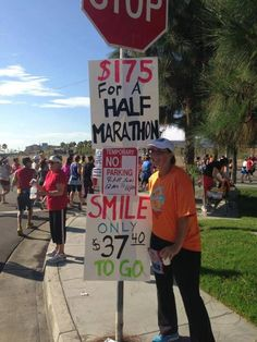 Smile, Only $37.40 To Go! http://www.runnersworld.com/fun/funny-running-race-signs/slide/25