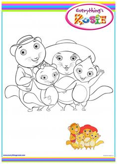 everythings rosie coloring book pages - photo#19