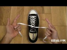 How to tie a Shoe Lace in 1 Second--- Great for kids who struggle with the other tying methods. I thought it was really cool.