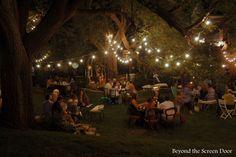 Backyard Wedding Reception | Beyond the Screen Door