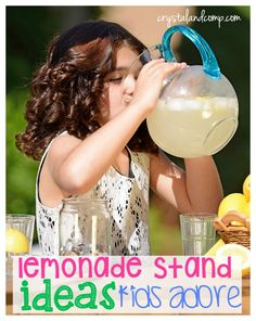 10 Lemonade Stand Ideas Your Kids Will Love Summer Fun For Kids, Diy For Kids, Cool Kids, Summer Activities For Kids, Fun Activities, Kids Lemonade Stands, Boredom Busters For Kids, Summer Treats, Business For Kids