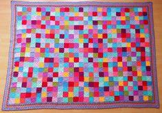 According to Matt...: Solid Granny Square Blanket - free pattern