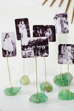 How To : DIY Mineral Photo Display