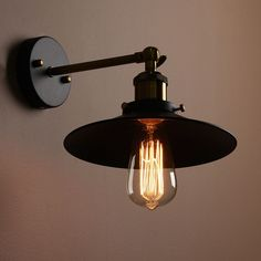 19.48$  Watch now - http://alivv4.shopchina.info/go.php?t=32683770645 - E27 Retro Metal Hanging Lampshade Edison Vintage Antique Industrial Bowl Sconce Loft Rustic Light Lamp Holder Socket 19.48$ #buymethat