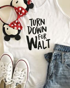 "This listing is for our ""turn down for Walt"" tank. Please note the first color list in the drop down menu is the shirt color, the second color is the image color and then you select if you want it in…More Disney World Outfits, Disney World Shirts, Disney Tees, Disney Shirts For Family, Funny Disney Shirts, Disney Family Outfits, Disney Fashion, Disneyland Shirts, Etsy Disney Shirts"