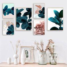 Leaf Wall Art, Abstract Wall Art, Large Wall Art, Wall Art Decor, Room Decor, Dining Room Wall Art, Living Room Art, Canvas Wall Art, Wall Art Prints