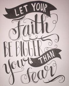 Faith Fear by Ink233 on Etsy