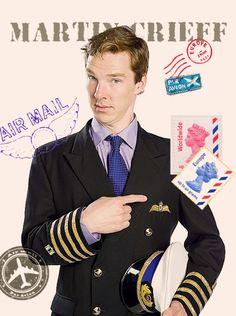 Cabin Pressure, Benedict plays 'Martin Crieff ' in the BBC Radio 4 comedy series Benedict Cumberbatch Sherlock, Sherlock Holmes, Stephanie Cole, Roger Allam, Cabin Pressure, Mrs Hudson, British Things, Bbc Radio, Martin Freeman