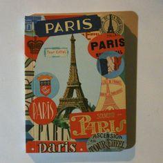 """5,5€ - Carnet """"Paris"""" bleu. Papeterie design sympa.  Dispo sur www.poppysquare.com"""