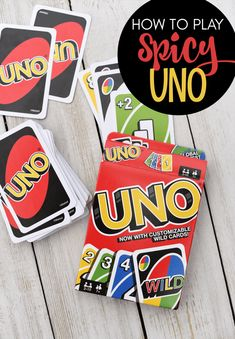 How to Play Spicy Uno-This spin on the traditional Uno game is SO much fun! Your family game nights just got a whole lot better. #games #familyfun Family Card Games, Fun Card Games, Best Family Games, Adult Games, Games For Kids, Bar Games, Dice Games, Family Fun Night, Night Kids