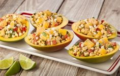 This summery Grilled Corn & Mango Salad is perfect for Fourth of July!