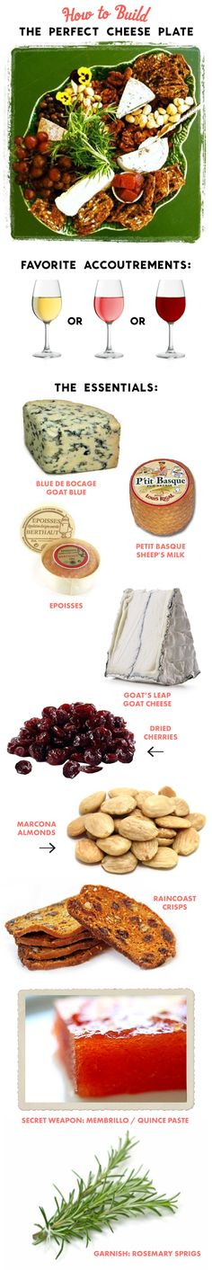 How to Build the Perfect Cheese Plate! LOVE this:)