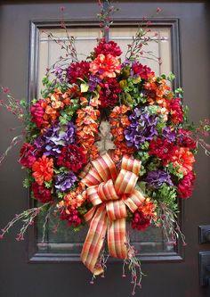 Fall Decor Wreath Autumn Decor Thanksgiving Wreath by LuxeWreaths, Thanksgiving Wreaths, Thanksgiving Decorations, Holiday Wreaths, Winter Wreaths, Spring Wreaths, Door Wreaths, Grapevine Wreath, Wreath Fall, Ribbon Wreaths