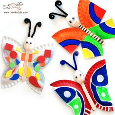 Butterfly-Spoon and Paper Plate << good for 3 Cheers for Animals Journey. There's a story about a butterfly that would work