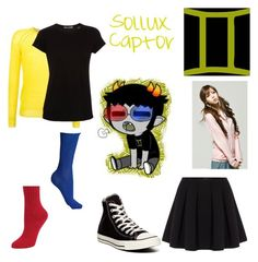 """Fem!Sollux Captor"" by littlecat2283 ❤ liked on Polyvore featuring Étoile Isabel Marant, Vince, Polo Ralph Lauren, Hue, Converse and homestuck"