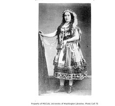 Ada Clifton in the role of Pocahontas in a production of POCAHONTAS :: 19th Century Actors Photographs
